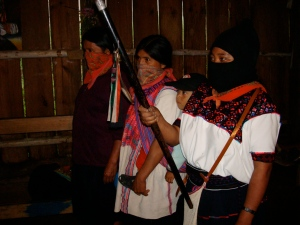 Mujeres with Staff from Mayan community